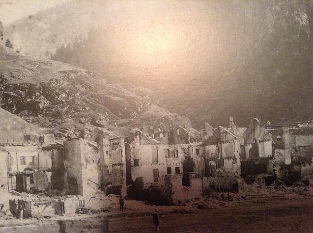 Caprile Devastata dopo l'incendio.