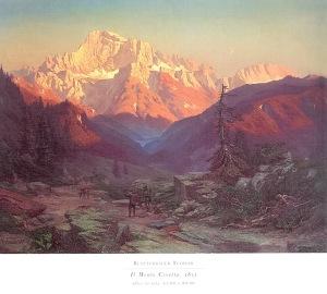 Il monte civetta, 1851 olio su tela